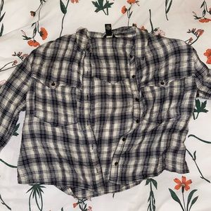 Black and White Print Flannel